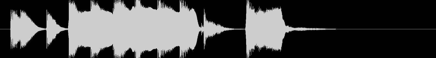 へたっぴ トイピアノとリコーダー3の未再生の波形