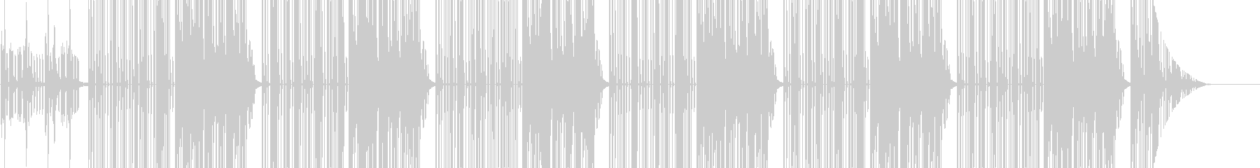 Trapのサイファー用ビートの未再生の波形