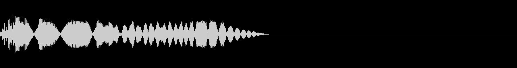 頭に「?」がでるとき(軽め・高めの音)の未再生の波形