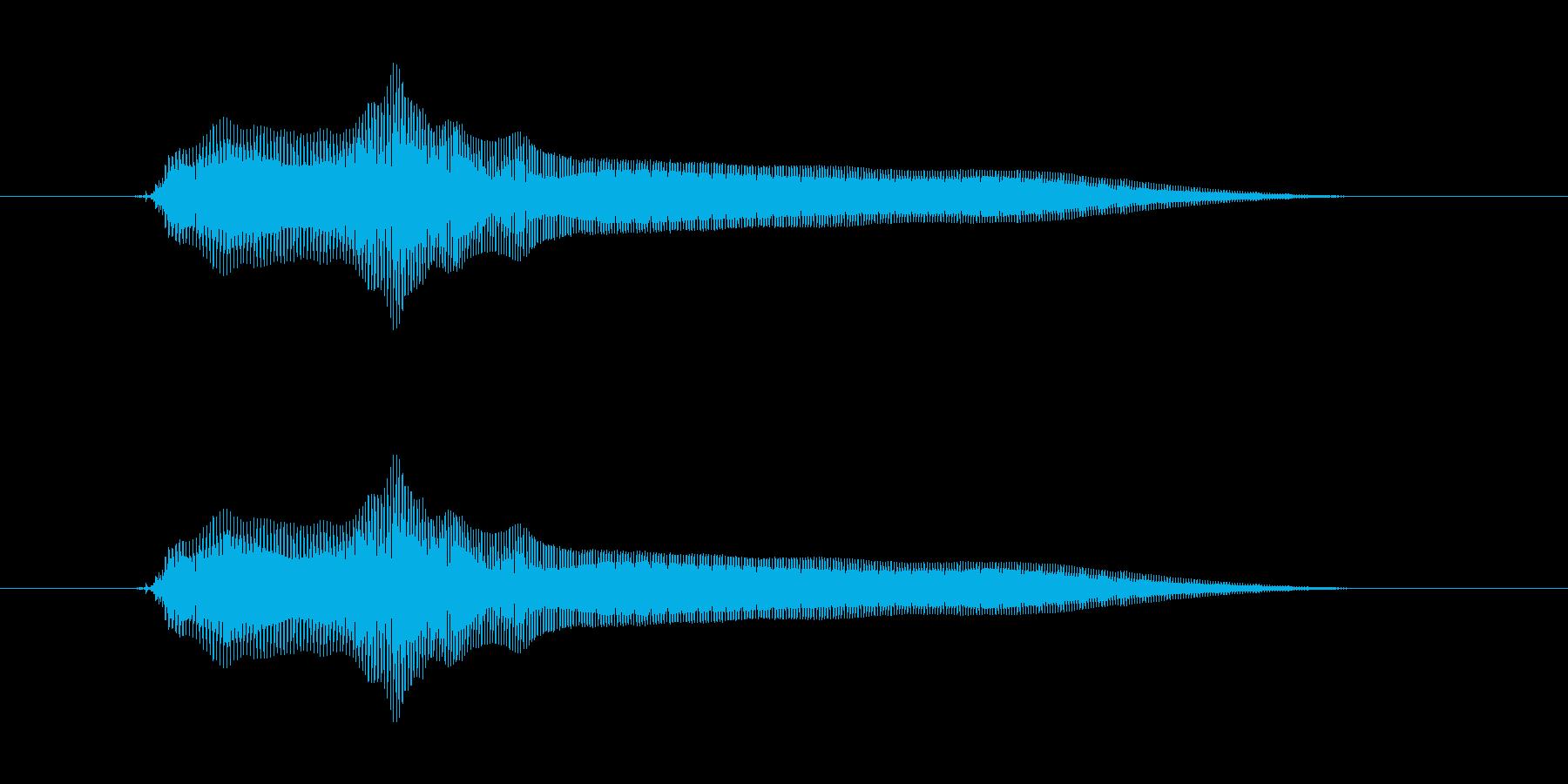 ビヨーンの再生済みの波形
