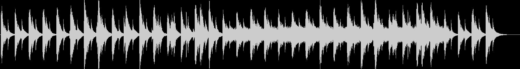 ハープシコードの悲しげな切ないメロディの未再生の波形