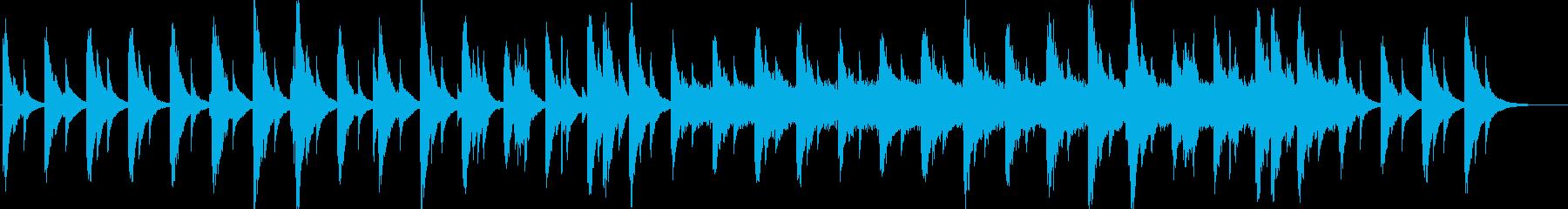 ハープシコードの悲しげな切ないメロディの再生済みの波形