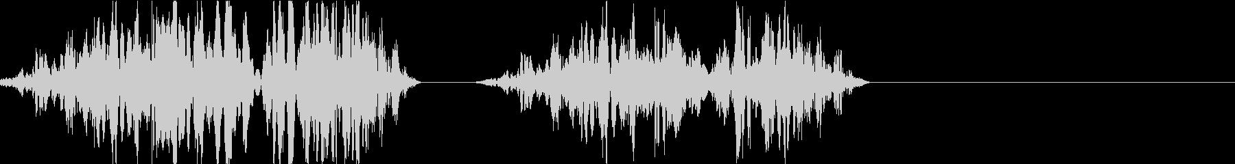 DJプレイ スクラッチ・ノイズ 212の未再生の波形