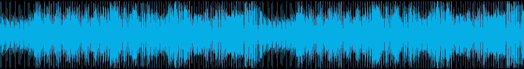 ダークヒーローっぽいファンキーループの再生済みの波形