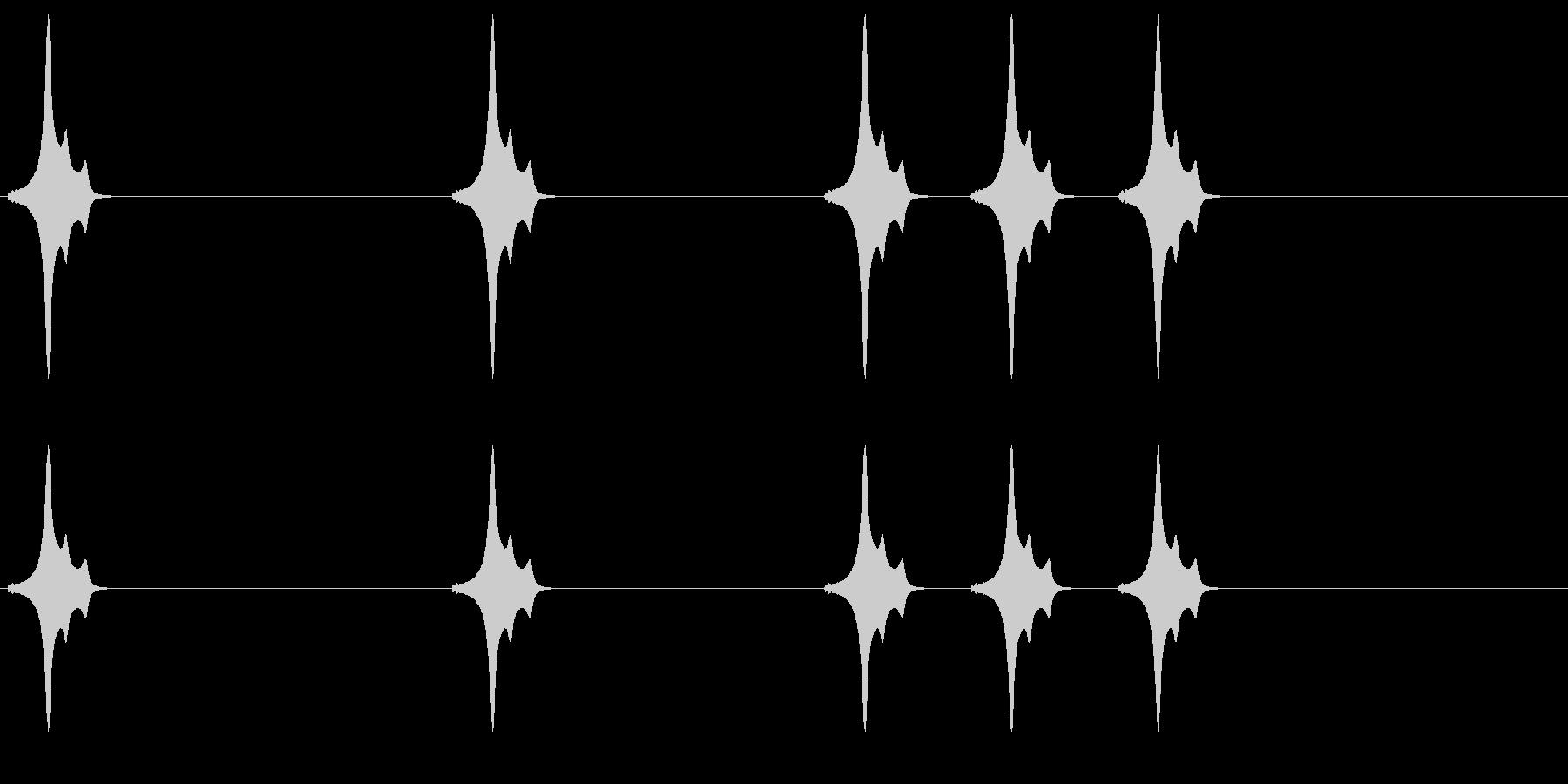 ポイ ポイ ポイポイポイの未再生の波形