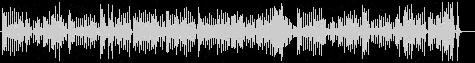 ドタバタコメディー調の木琴とピアノの未再生の波形