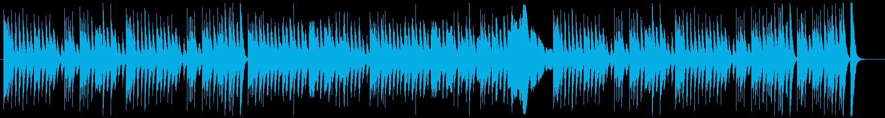 ドタバタコメディー調の木琴とピアノの再生済みの波形