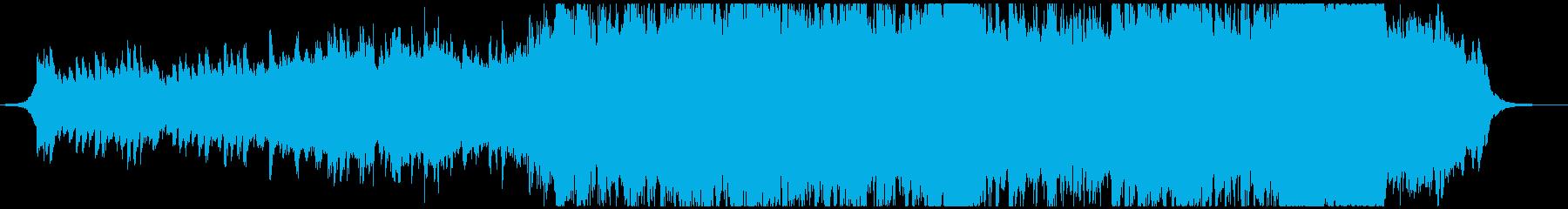 ファンタジーで壮大で美しいオープニングの再生済みの波形