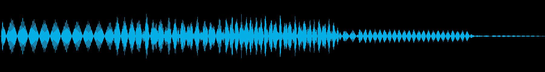 ボタン決定音システム選択タッチ登録C02の再生済みの波形
