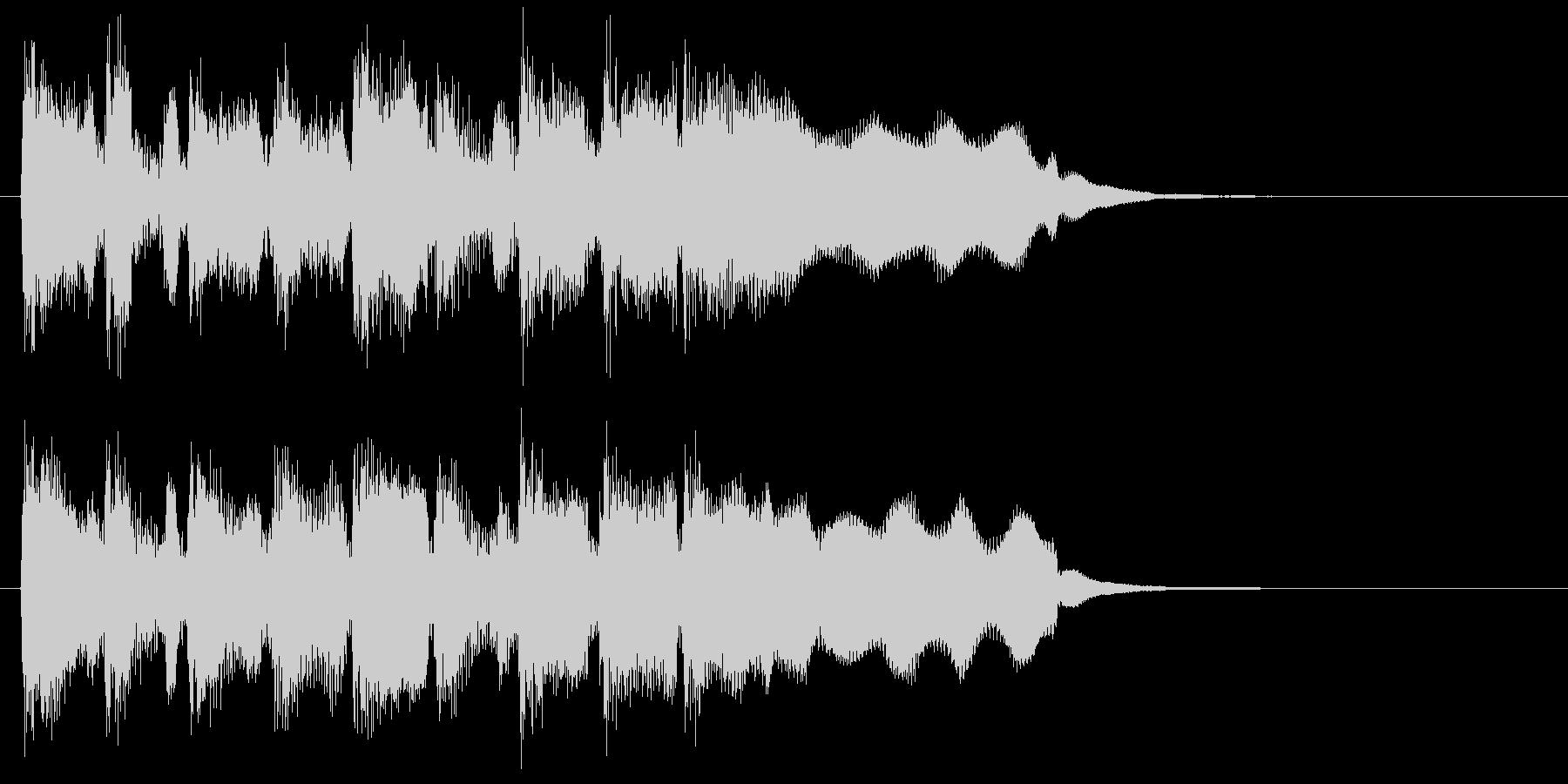 リコーダー、楽しい弾むリズムのジングルの未再生の波形
