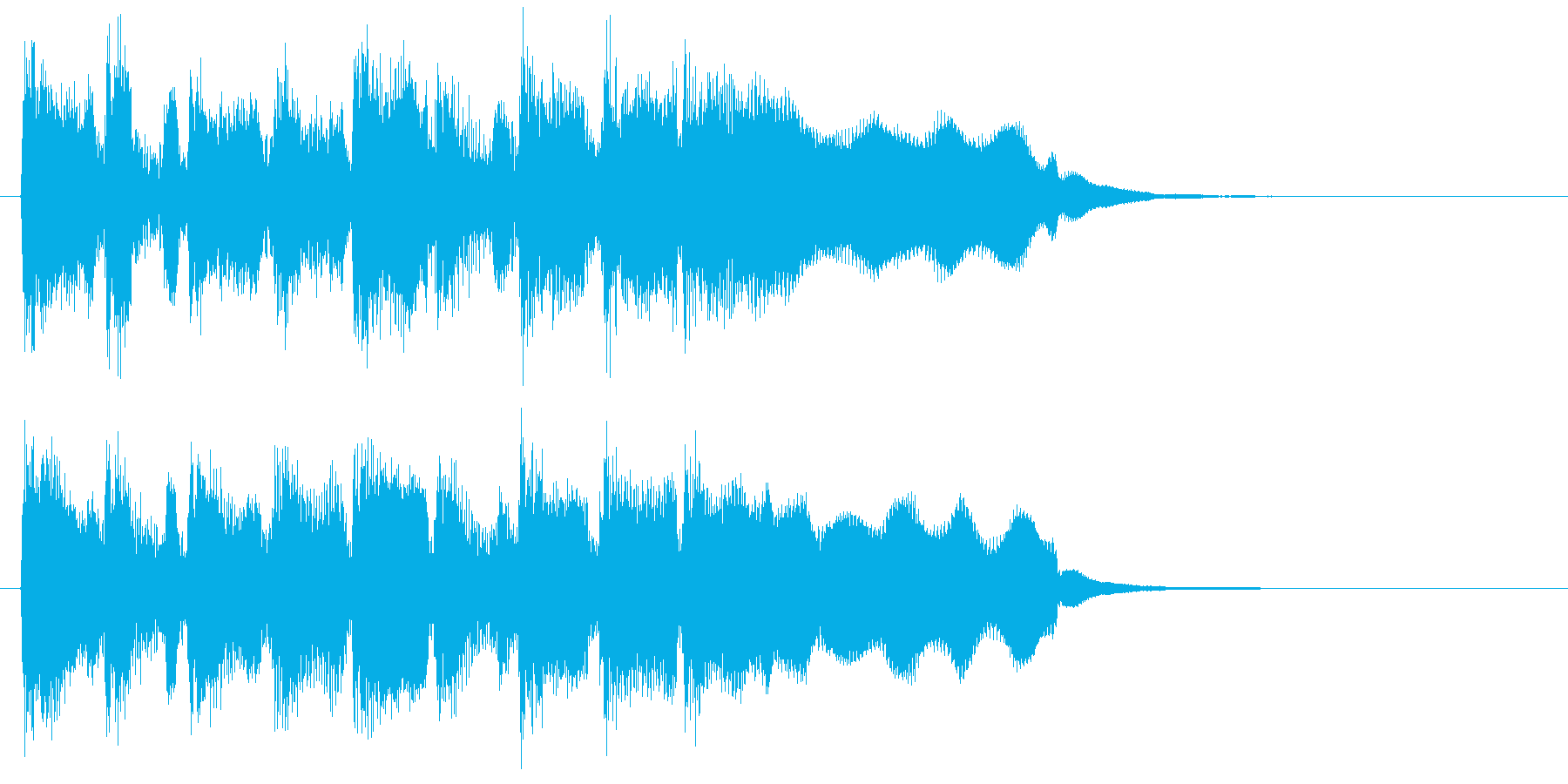 リコーダー、楽しい弾むリズムのジングルの再生済みの波形