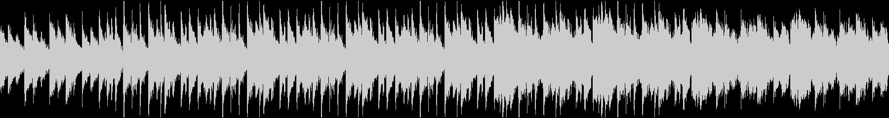 三拍子のミステリー風怪しいBGMの未再生の波形