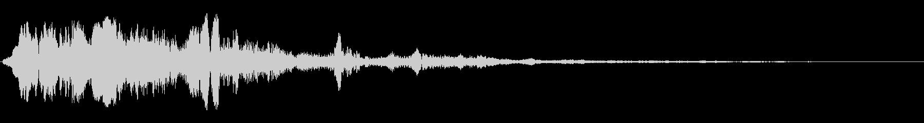 こもったジングル系スペース音の未再生の波形
