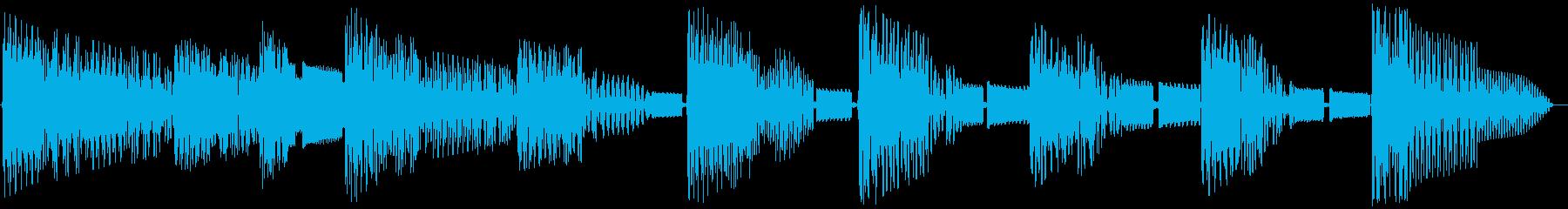 レトロゲームジングル:ゴシック2の再生済みの波形