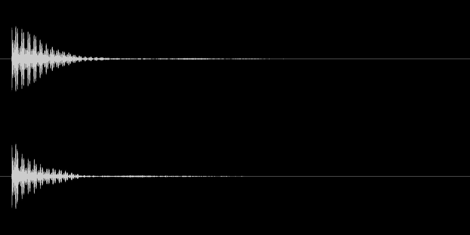 ポン カーソル音 タップ音 CLo-14の未再生の波形
