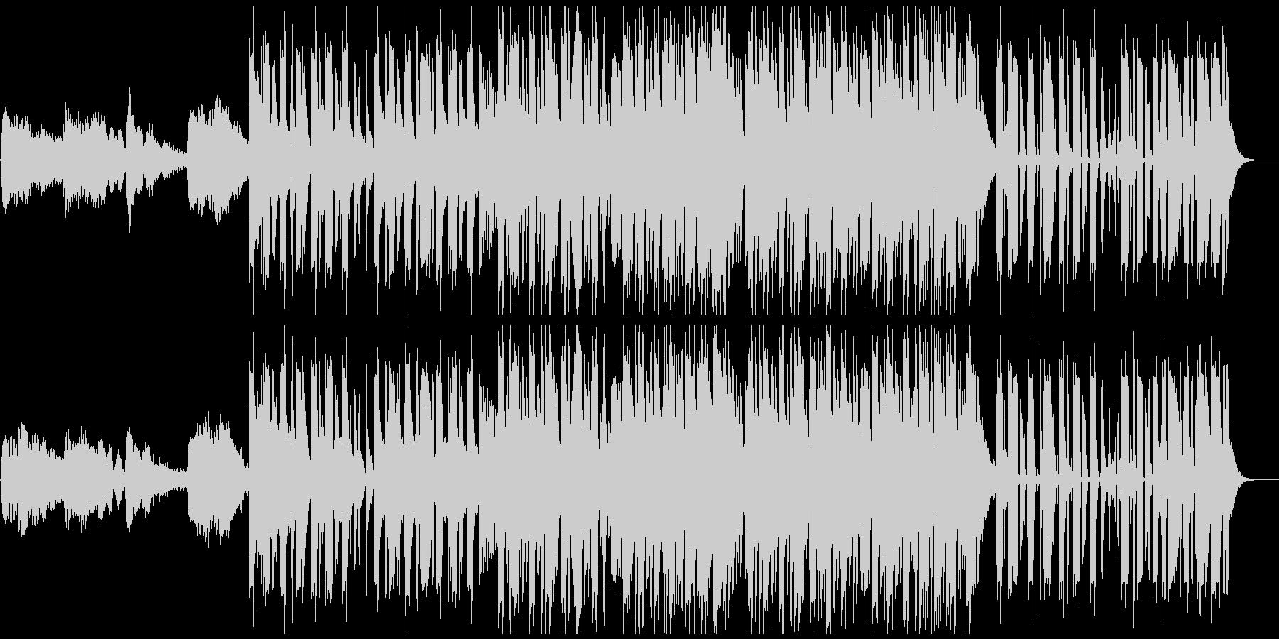 1分仕様ダークな躍動感あるブレイクビーツの未再生の波形