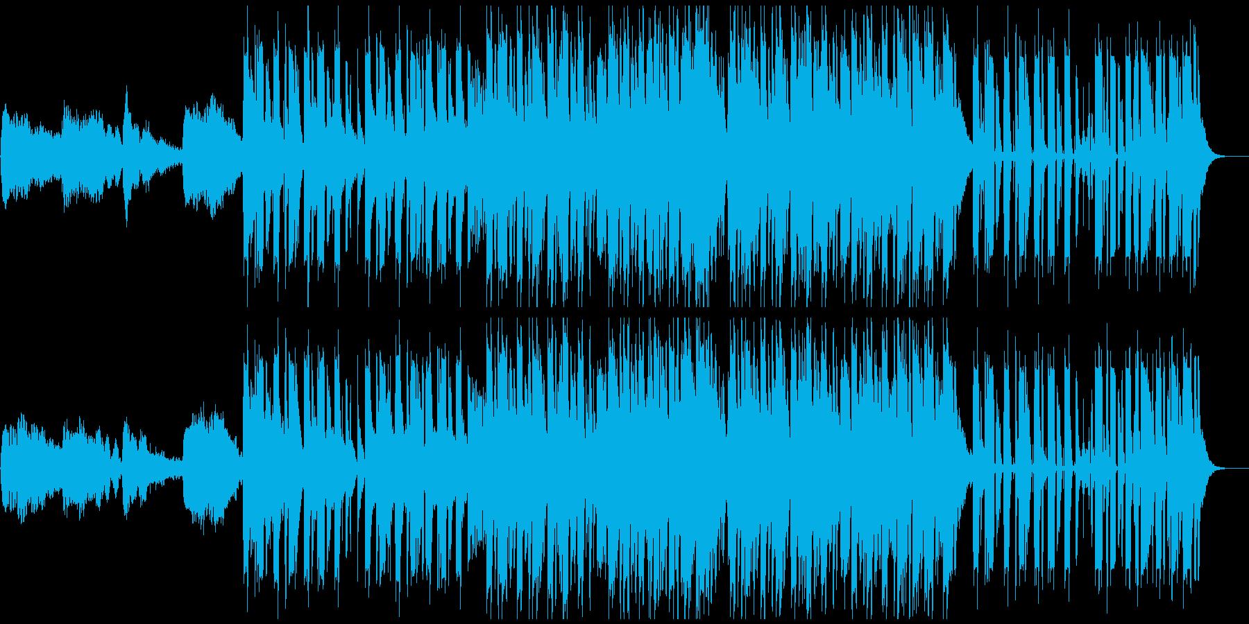1分仕様ダークな躍動感あるブレイクビーツの再生済みの波形