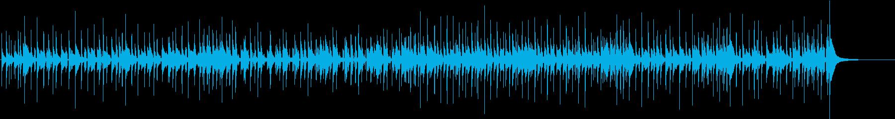 ドラムベースのゆるいファンクの再生済みの波形