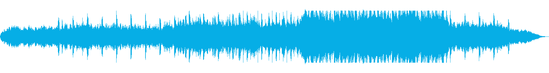 穏やかで幻想的なミディアムテンポの曲の再生済みの波形