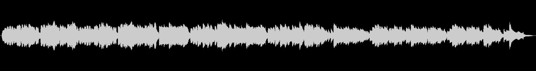 クラギとフルートのほのぼのした曲の未再生の波形