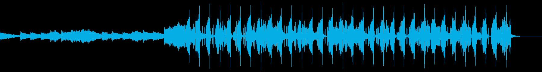 切ない変則ビートの再生済みの波形
