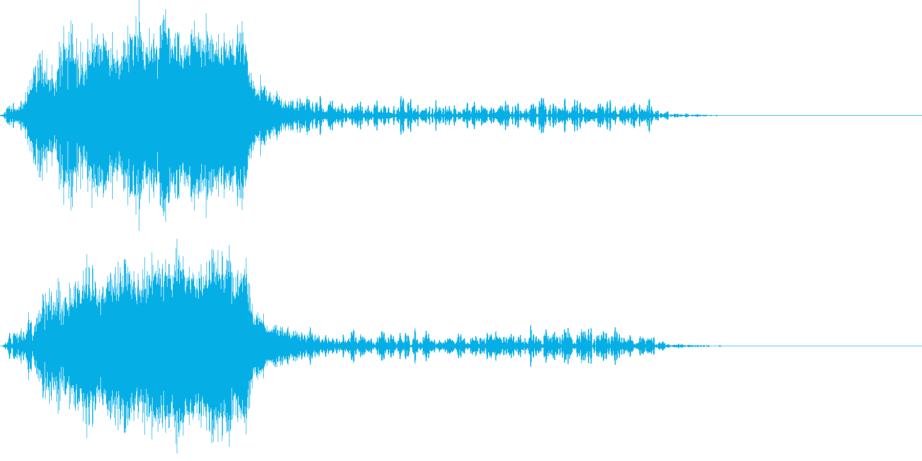 ホラー ハリウッド映画系上昇音 の再生済みの波形