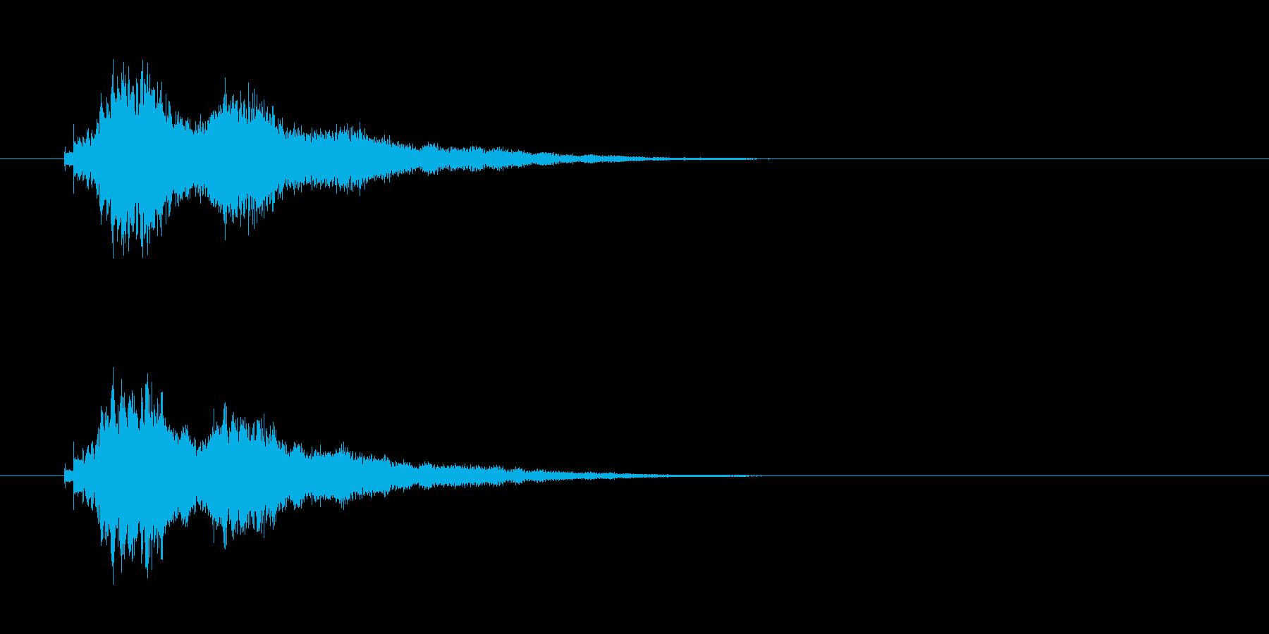 ウインドチャイムの再生済みの波形