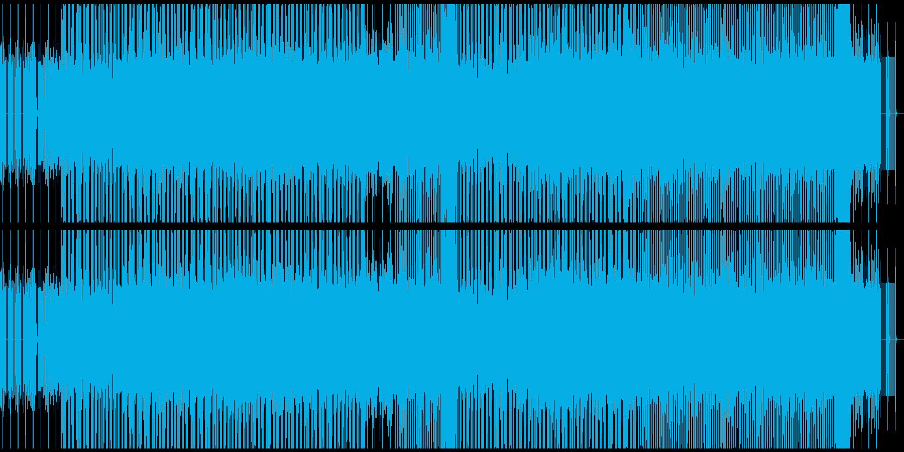 獰猛なイメージのベースミュージックの再生済みの波形