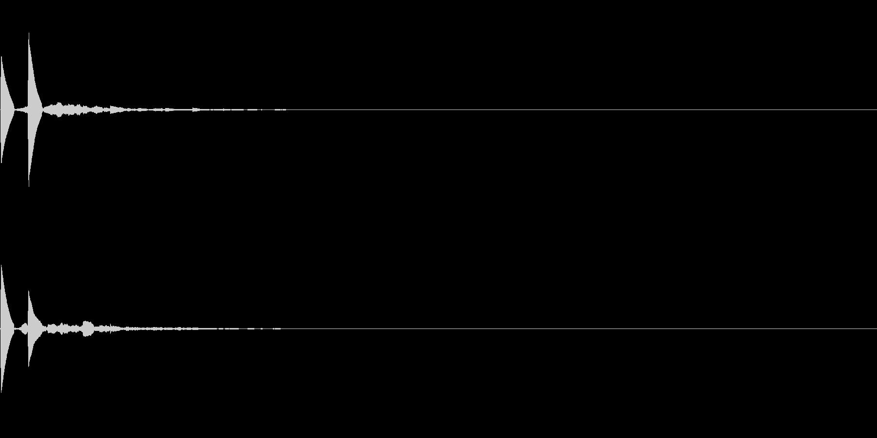 「ピピッ」キッカケ音_04+の未再生の波形