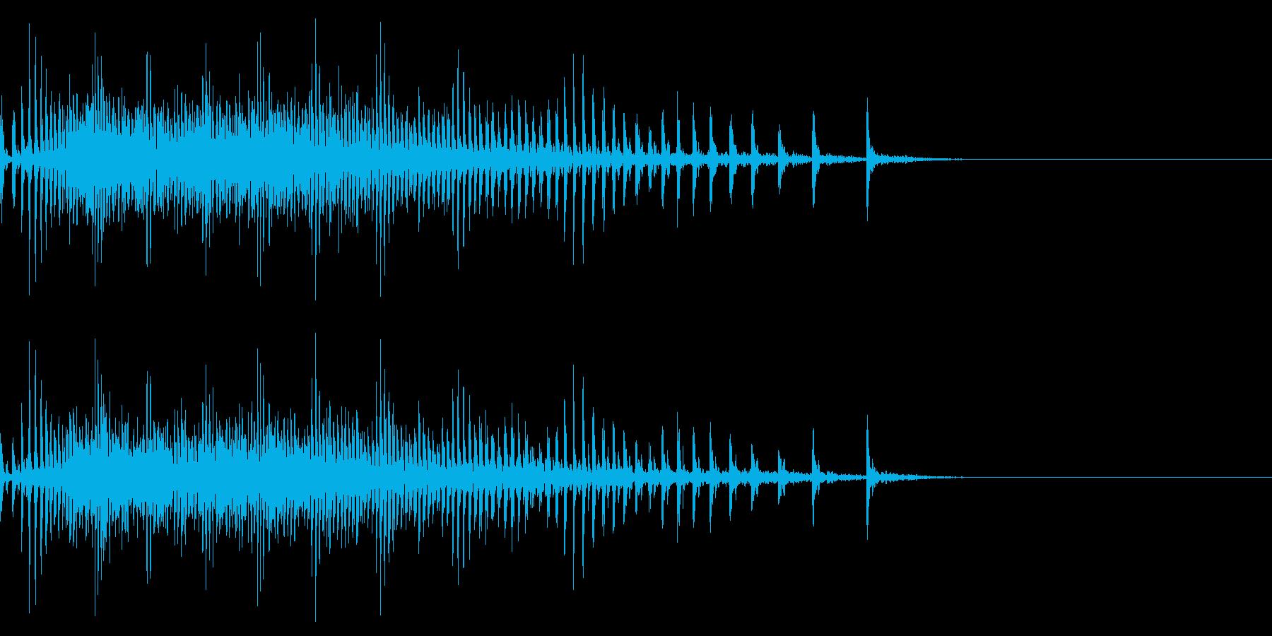 [生録音]魚釣り、リールを巻く13の再生済みの波形