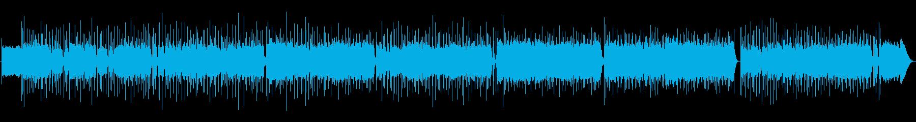 映像作品向け:ノリが良いギターのR&Rの再生済みの波形