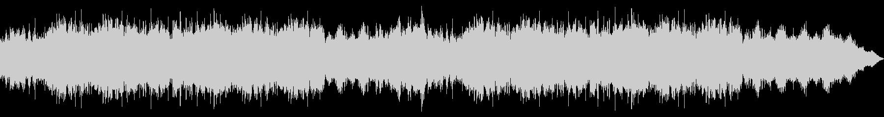 雄大なイメージのインスト曲の未再生の波形