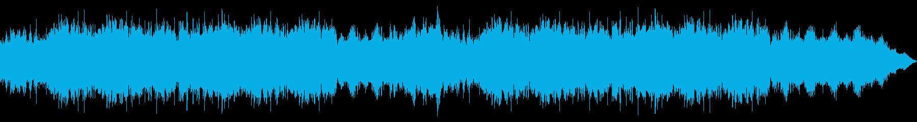雄大なイメージのインスト曲の再生済みの波形
