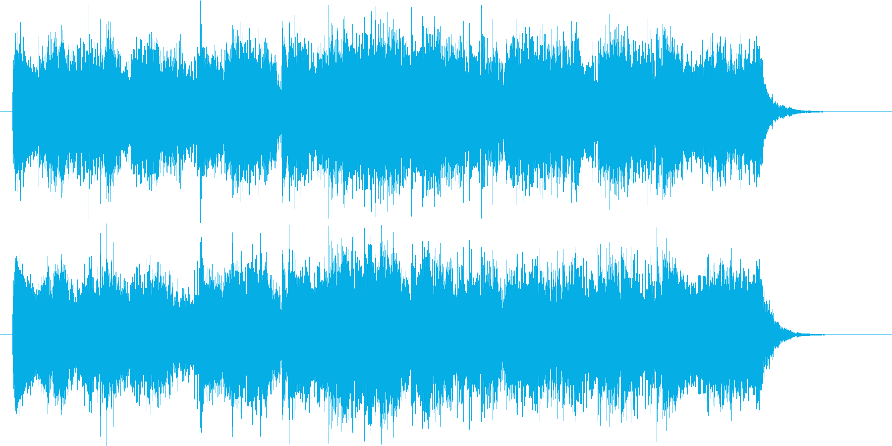 激しいピアノとシンセが印象的なジングルの再生済みの波形