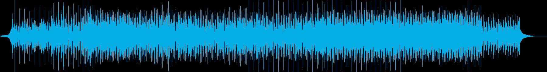 シンセをメインに用いた暗い雰囲気のハウスの再生済みの波形