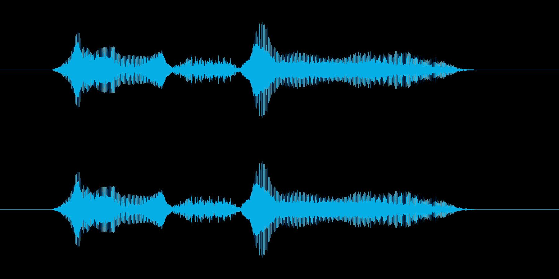 よっしゃー の再生済みの波形
