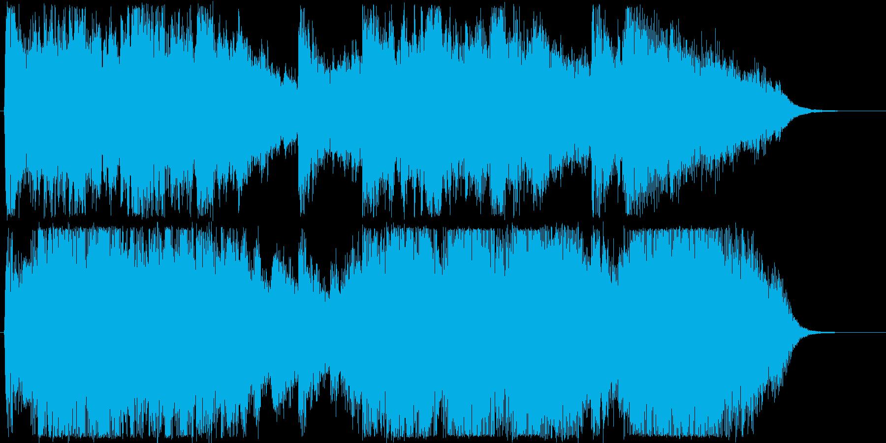 ゆったりしたシンセサイザー短めの再生済みの波形