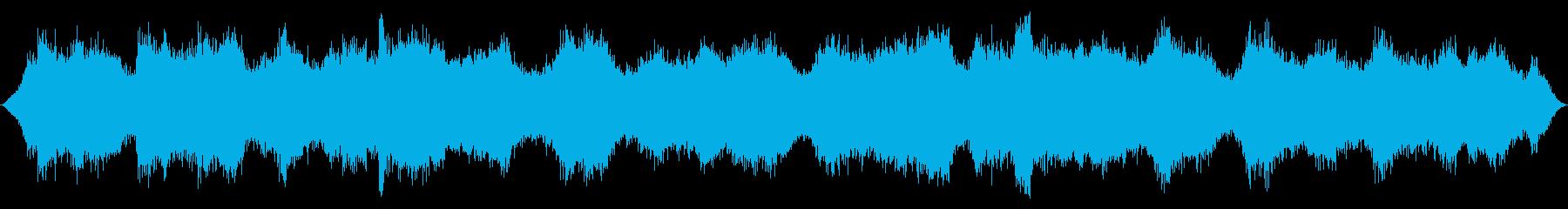海洋:中波が来る、波のうなり、軽い鳥の再生済みの波形
