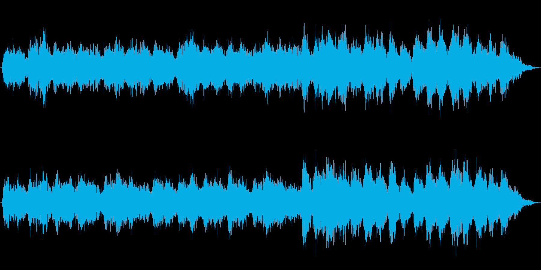 深い癒しへ導くリラクゼーション音楽の再生済みの波形