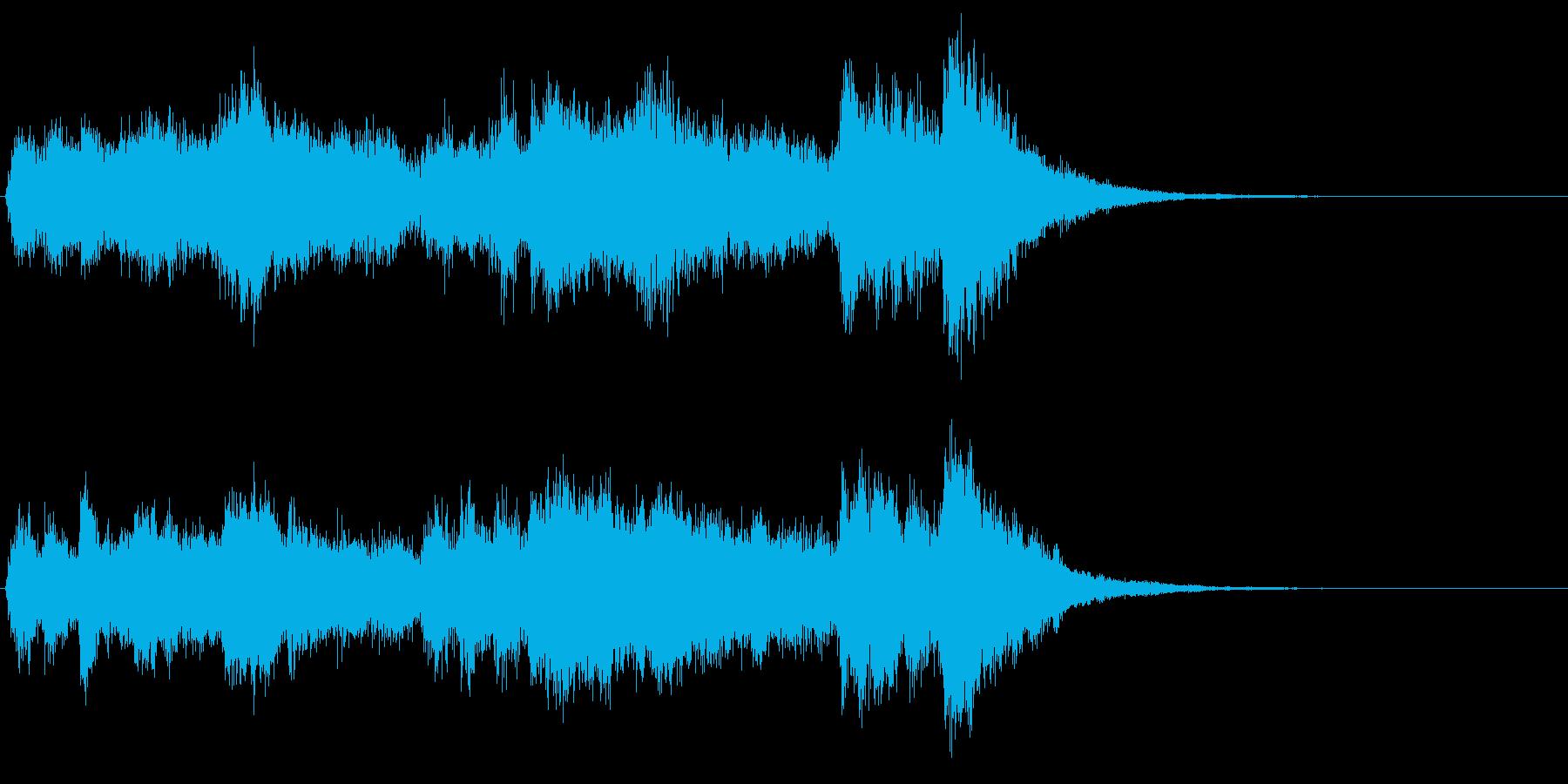 Tp3本、Tb2本によるファンファーレの再生済みの波形