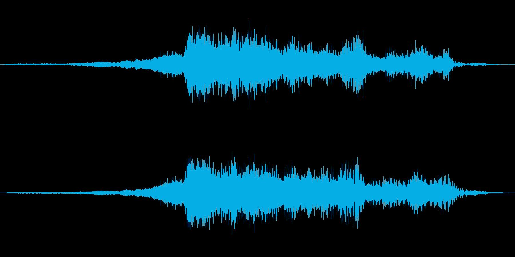 飛行機のクラッシュへのアプローチ、...の再生済みの波形