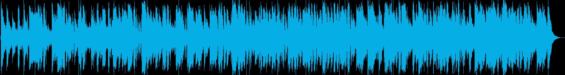 風に吹かれリラックスする感じのボサノバの再生済みの波形