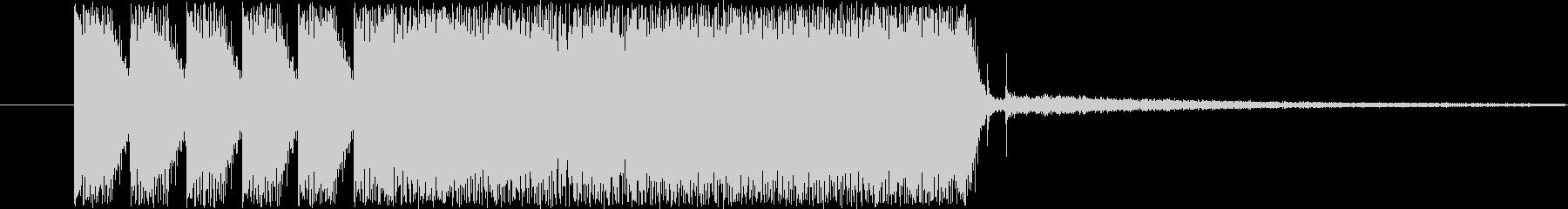 シンセサイザージングルの未再生の波形
