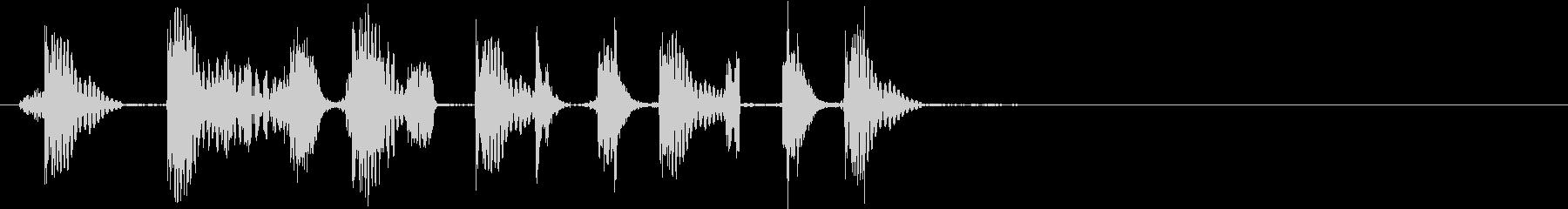 歯切れの良いスクラッチ音で場面を展開の未再生の波形
