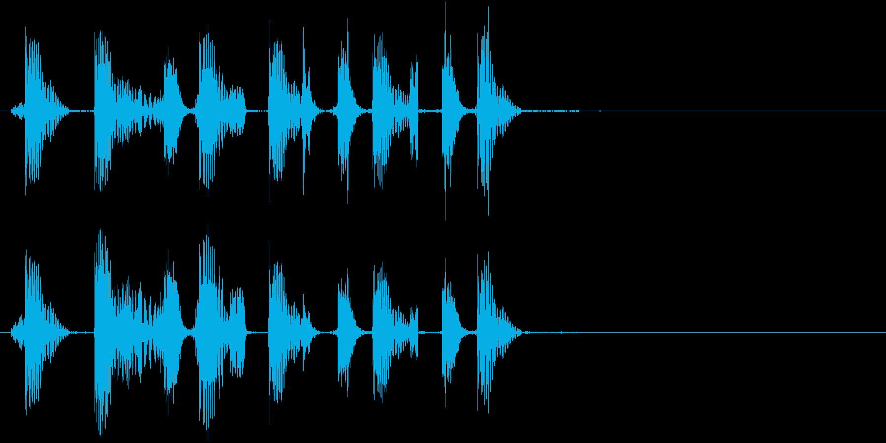 歯切れの良いスクラッチ音で場面を展開の再生済みの波形