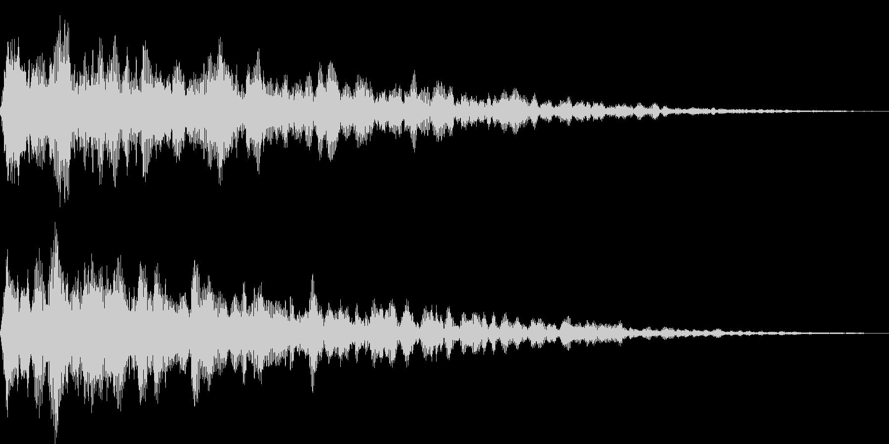 アンビエント系サウンドロゴの未再生の波形