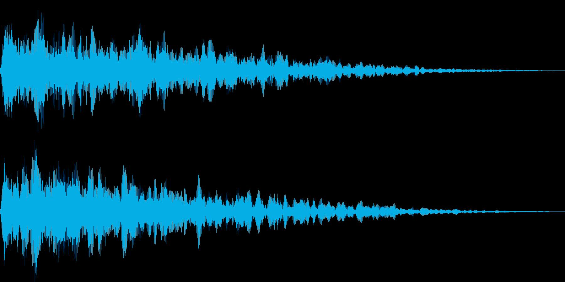 アンビエント系サウンドロゴの再生済みの波形