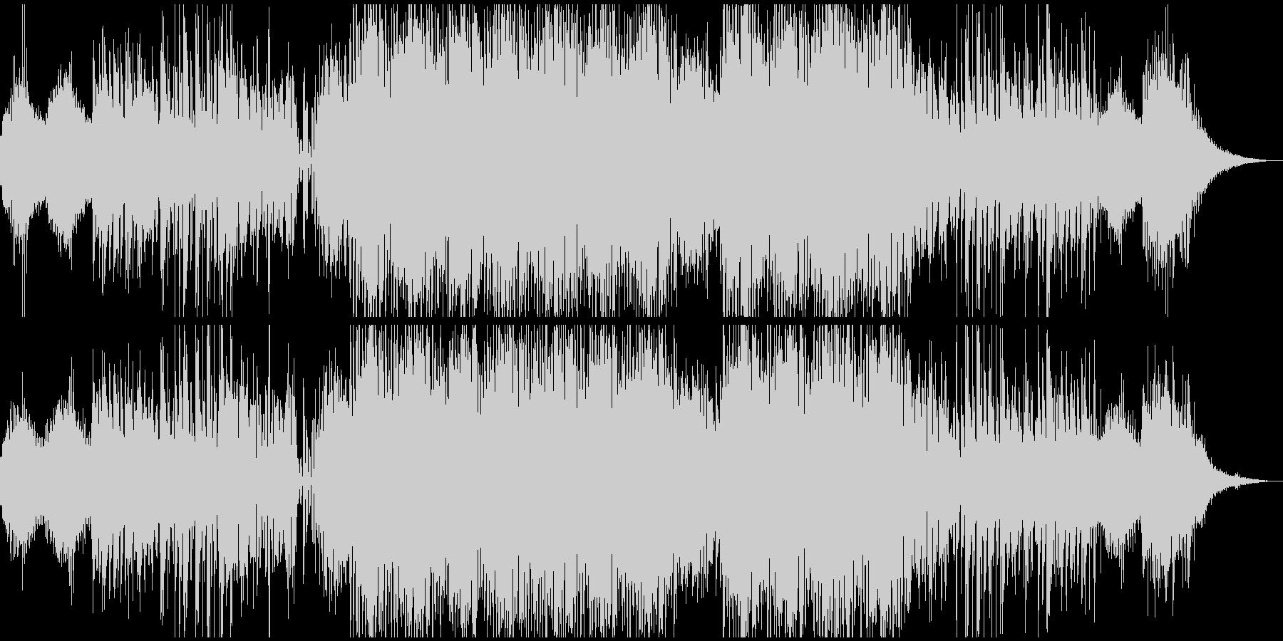 虫の声が蠢くようなアンビテクノサウンドの未再生の波形