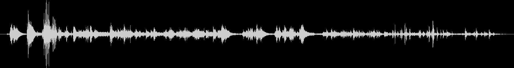 シンク:プルストッパーとドレン、ヘ...の未再生の波形