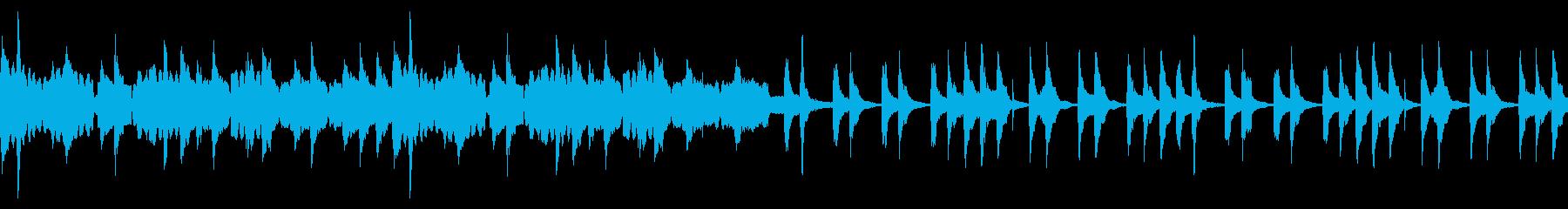 どこか懐かしい感じのBGMの再生済みの波形